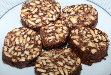 Receita fácil de salame de chocolate