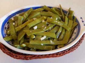 receita de Feijão Verde com Alho