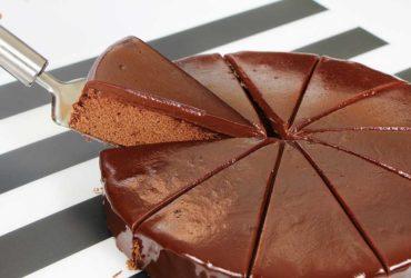receita fácil de bolo de chocolate