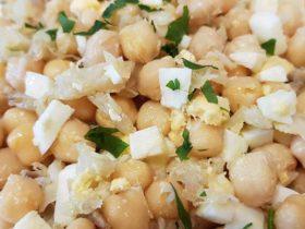 Receita fácil de Salada de Bacalhau com Grão